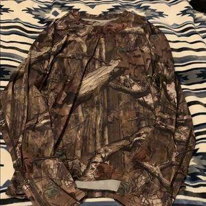 breakup infinity mossy oak camo long sleeve shirt